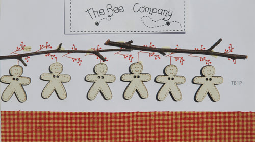 Buttons - Gingerbread Garland - TB1P-photo