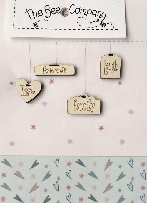 Buttons 4 mini tags (English) - TB21D