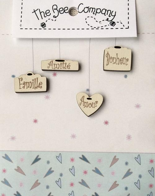 Buttons 4 mini tags (French) - TB21F