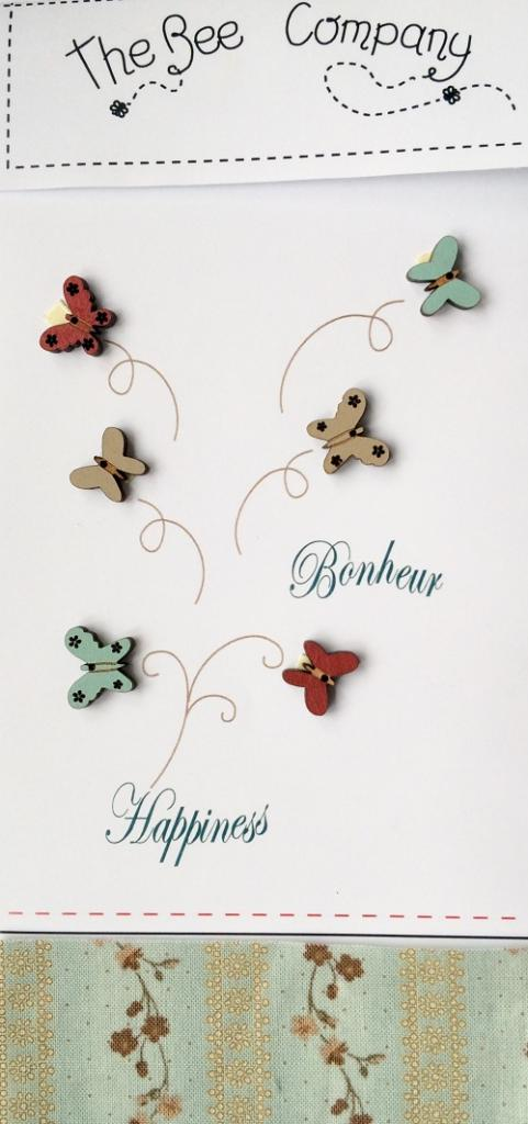 Boutons 6 papillons - TB25B