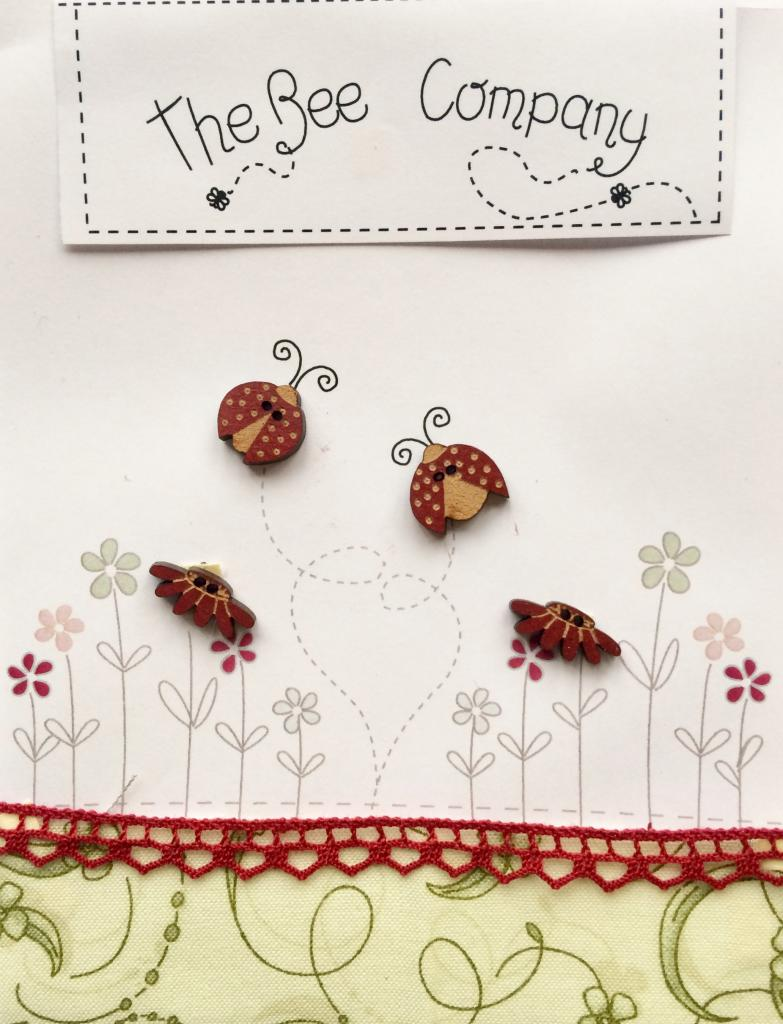 "Boutons ""Coccinelles"" - TB27"
