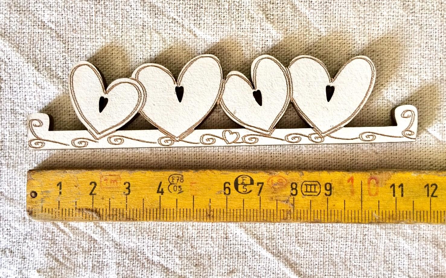 Mini Heart hanger TBC7-PM creme - 11.5 cm (cream)
