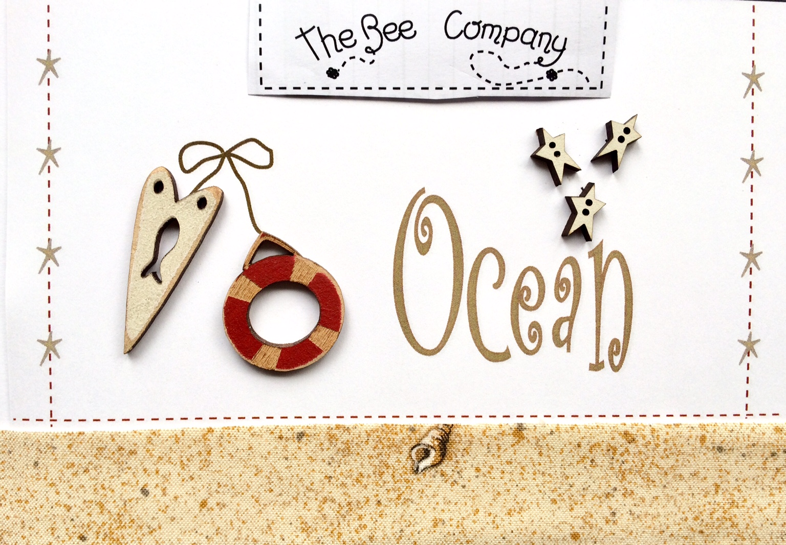"""Ocean"" buttons - Red - TBE12"