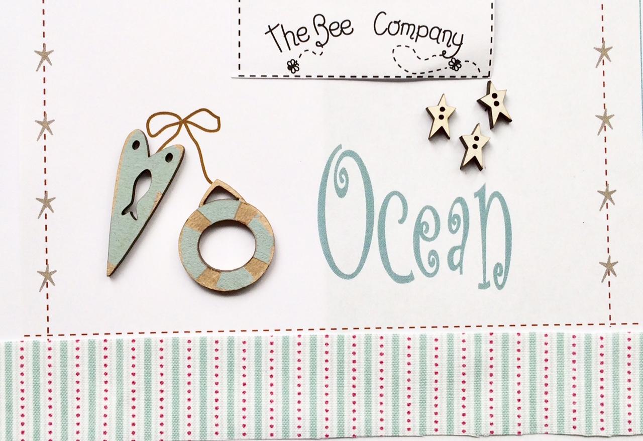"""""""Ocean buttons - blue - TBE12B"""