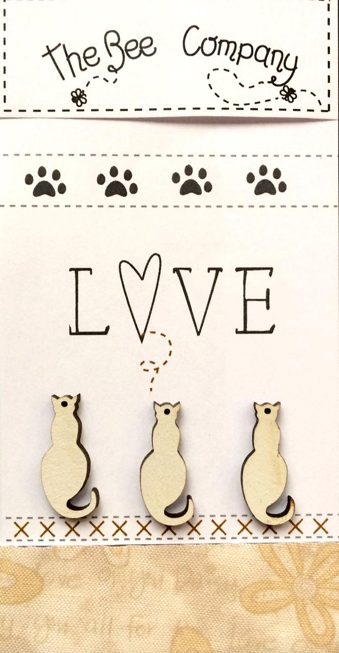 Buttons cat lovers - cream - TBM26C