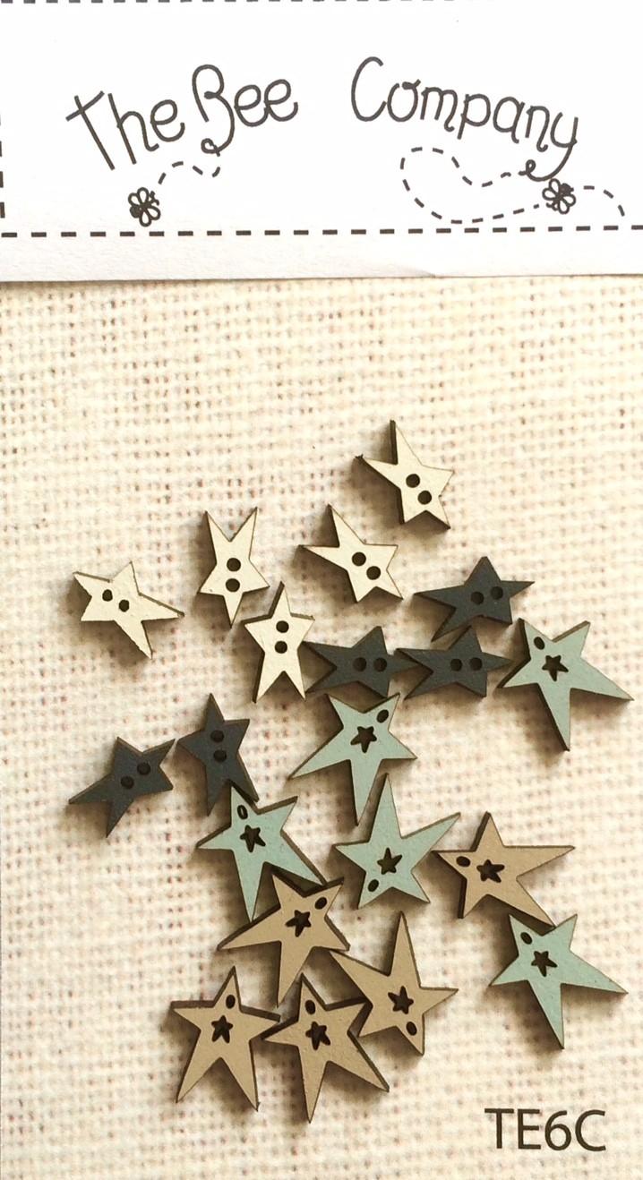buttons - assorted summer stars - TE6C