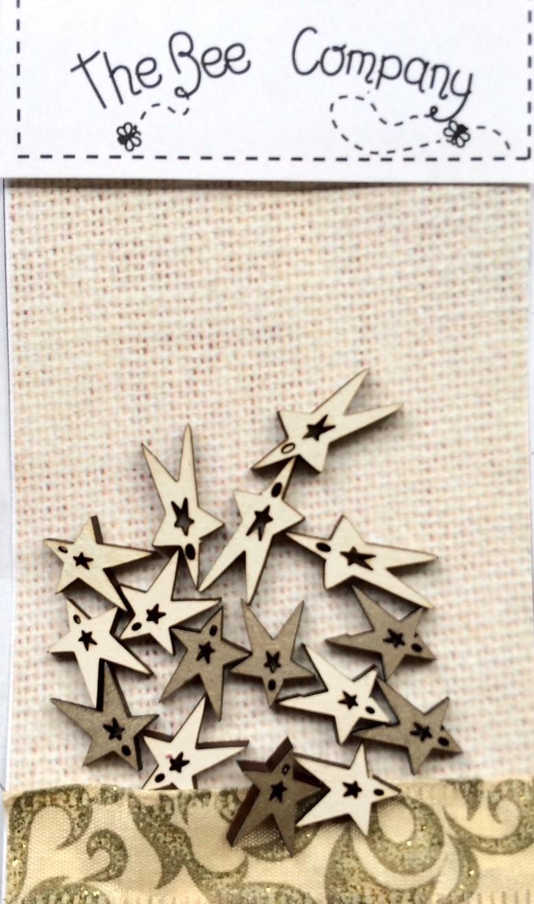 Boutons mini Christmas stars -  TE6D