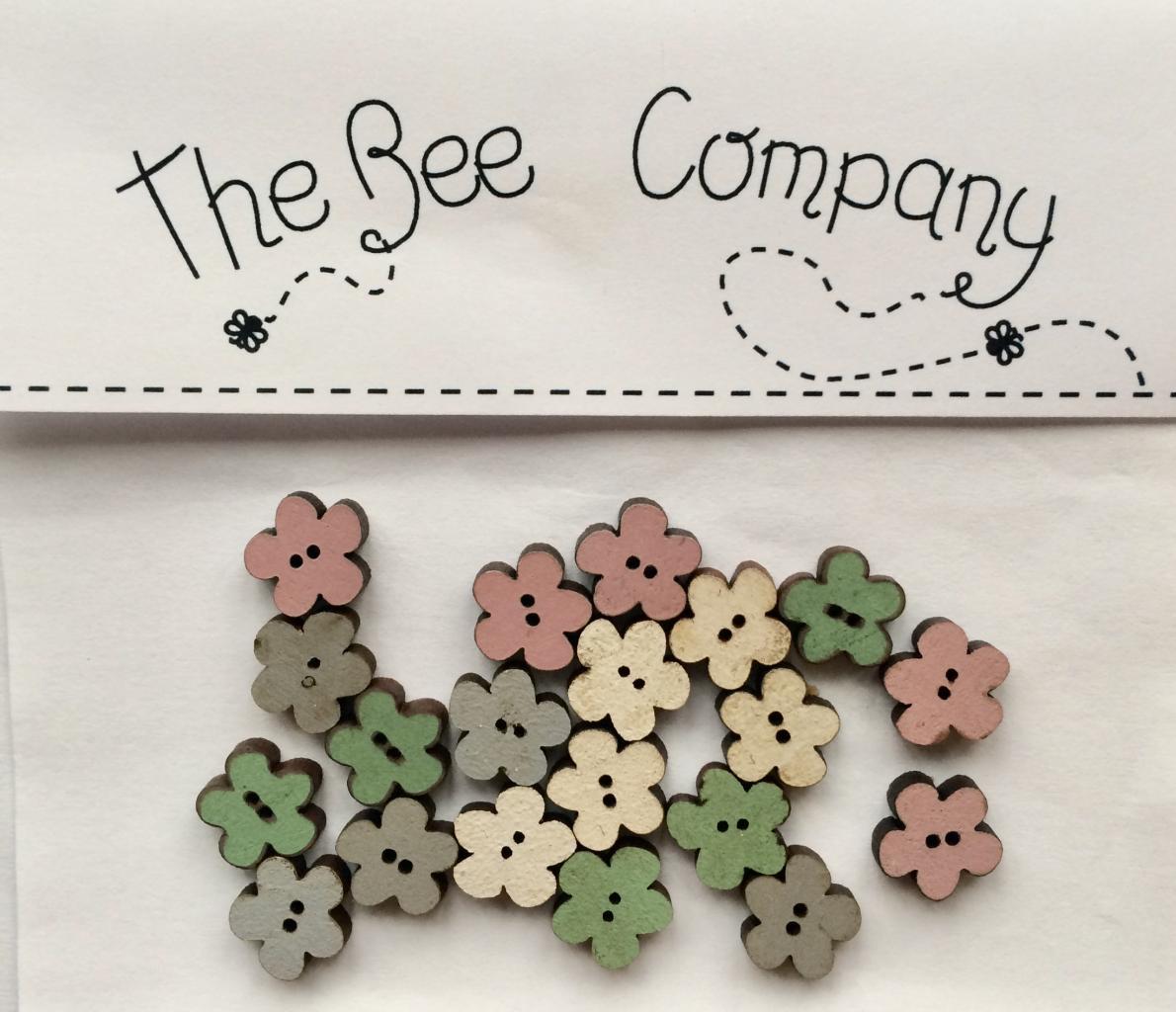 Boutons mini fleurs assorties - TM11