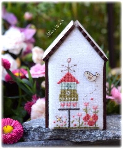 Fleurs de Lin crossstitch chart - Mini house ref 187