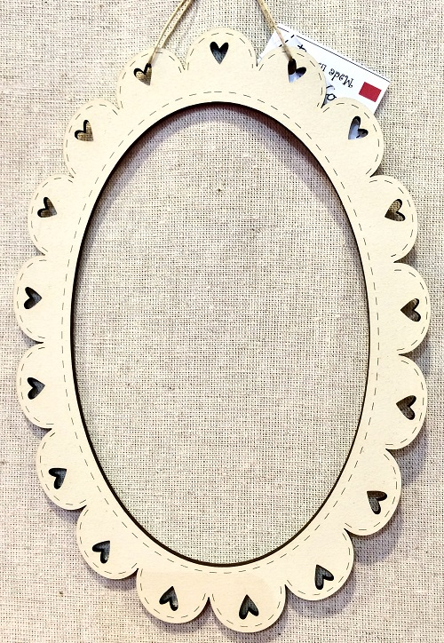 Oval frame - CACovale - cream