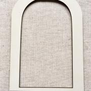 cadre cage  ovale crème CAG1creme