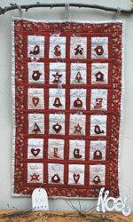 Advent calendar - quilt -  FNO5