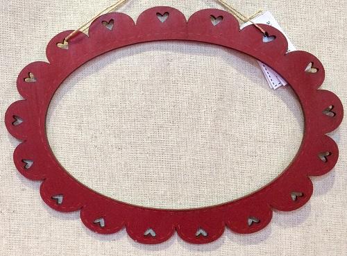 Oval frame - Red - CARovale