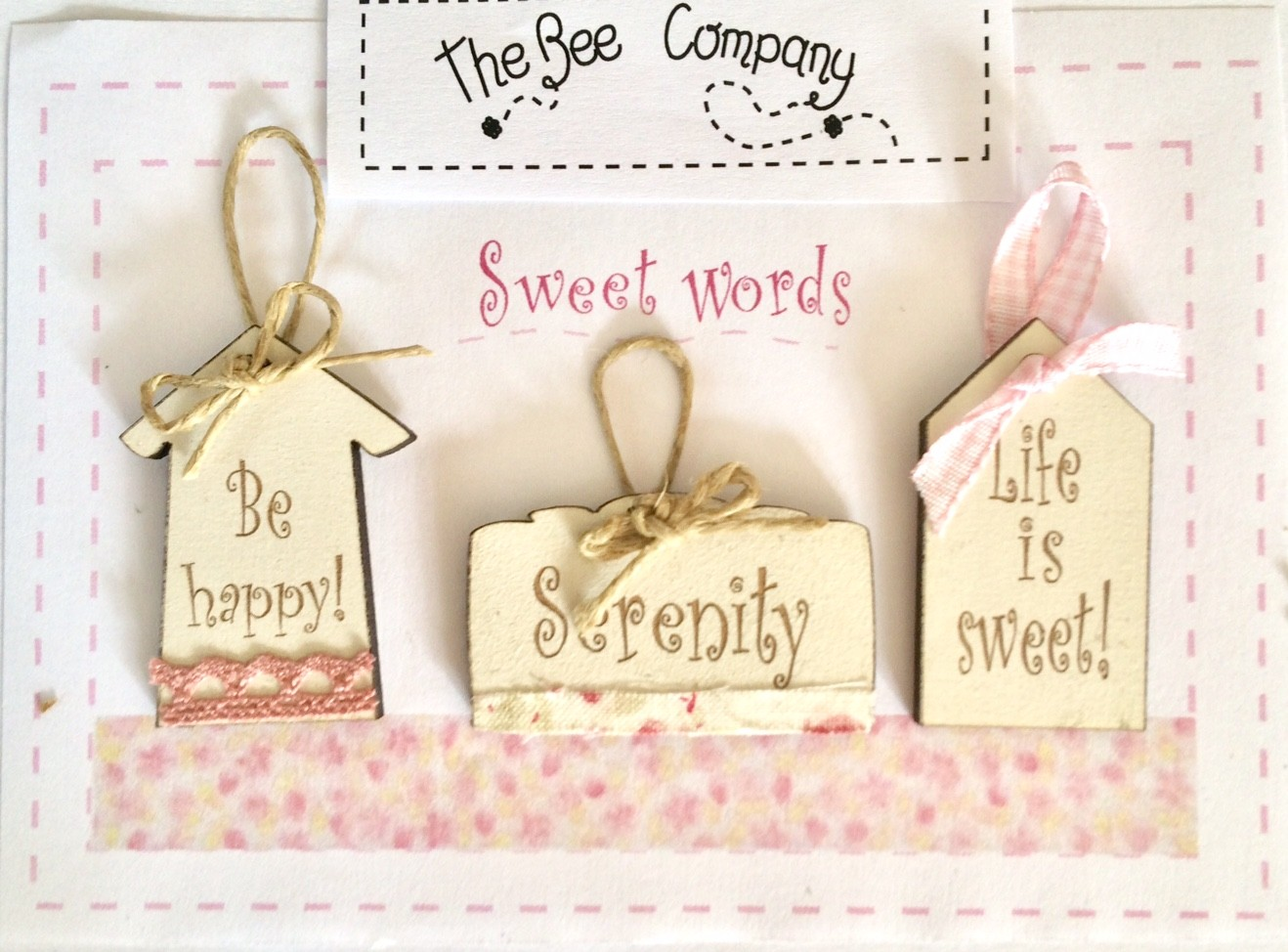 Buttons Sweet words - mini tags ET15engl