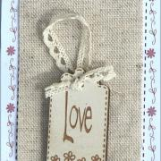 Mini étiquette Love - ETLOV1
