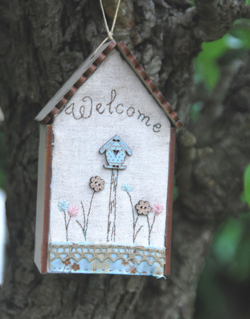Embroidery kit - Birdhouse -KNM6W