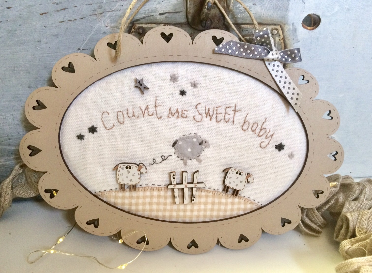 Kit of  patchwork Sheep frame