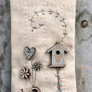 Emrodiery kit - Birdhouse - ktb87