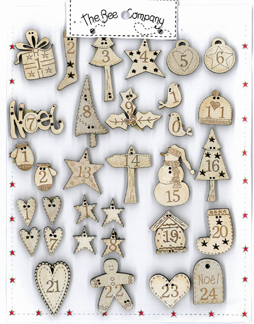 24 Advent calendar buttons - NO1