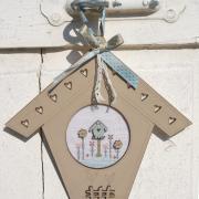 Cross stitch chart - Linen birdhouse - PC1lin