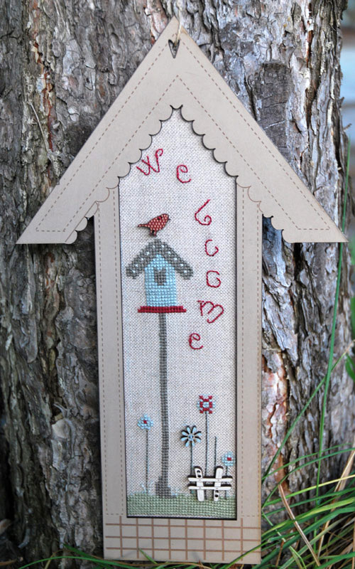 Cross stitch chart - wide birdhouse - PC2