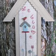 Cross stitch chart - wide birdhouse - PC2