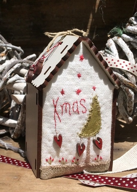 Mini quilt kit - Christmas house