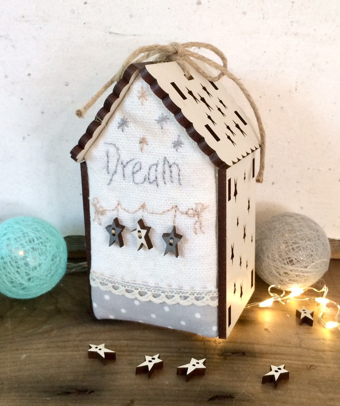 Kit Patchwork -Mini maison lumineuse