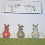 Buttons Spring rabbits - TB10C