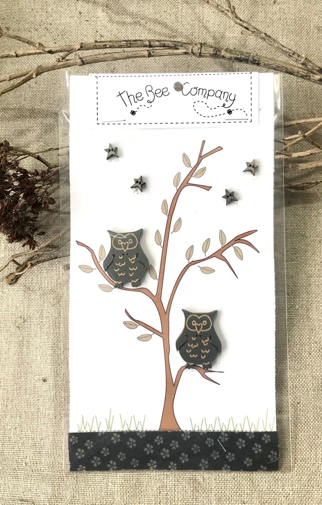 Buttons - Owls & stars TB5P