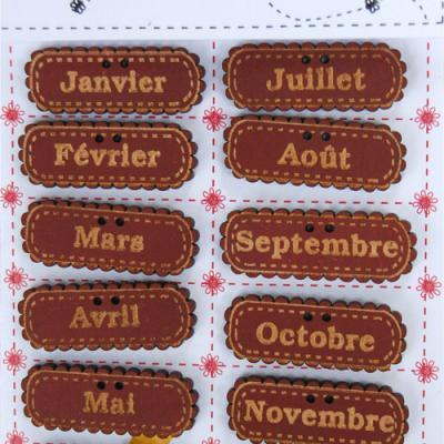 Semaine, mois et étiquettes
