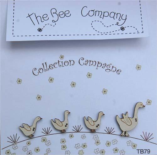 TB79 - Countryside collection - buttons - 4 geese