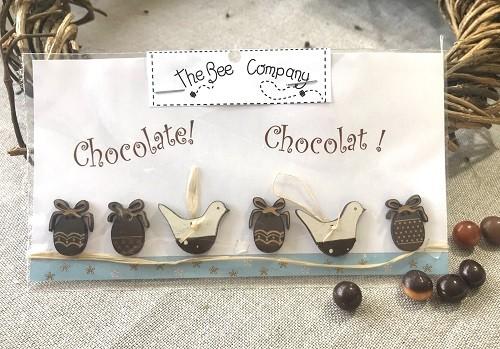 Buttons - Chocolate eggs & birds - TB7D