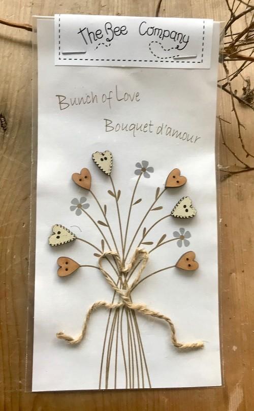 TB92C - boutons coeurs - Bouquet d'amour