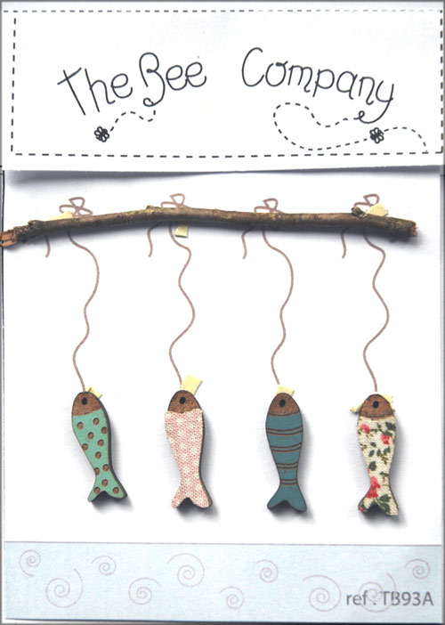 4 boutons poissons -TB93A
