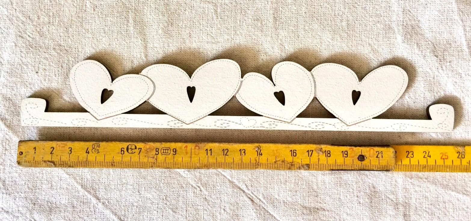 Grand cintre coeur TBC7-GM creme - 25.5 cm (crème)