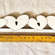 Large Heart hanger TBC7-GM creme - 25.5 cm (cream)