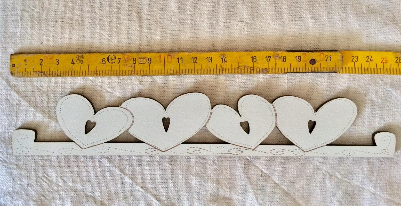 Heart hanger TBC7-MM creme - 17.5 cm (cream)
