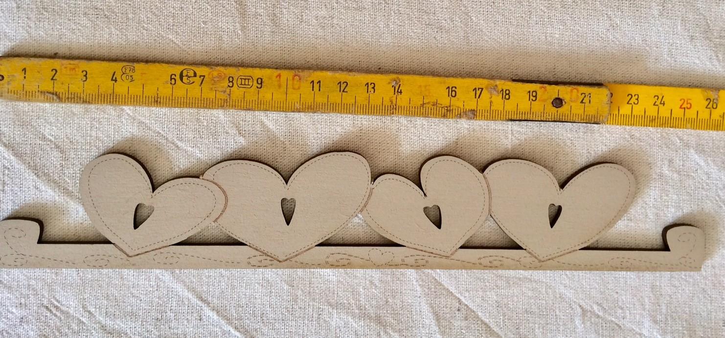 Heart hanger TBC7-MM lin - 17.5 cm (linen)