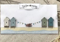 Buttons 4 beach cabins - TBE19A