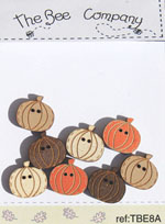 8 mini pumpkins - buttons - TBE8A