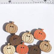 8 mini pumpkins - buttons - TBE8A