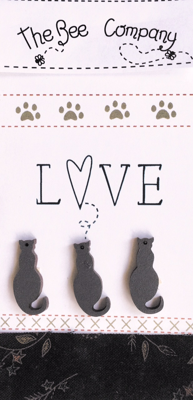 Buttons cat lovers - grey -  TBM26G