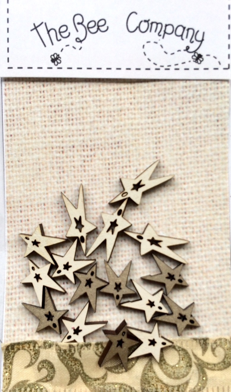 Boutons mini étoiles Noël-  TE6D
