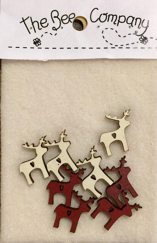 Mini buttons - reindeers - TMrennes